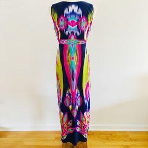Chico's Dresses - Chico's Bright Ikat Watercolor Maxi Dress